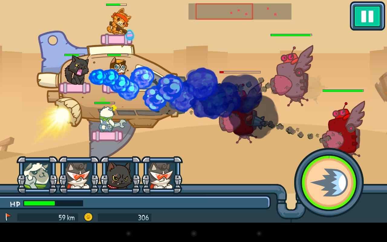 游戏介绍 《决战喵星破解版》是一款画风好玩可爱的塔防游戏,你是否
