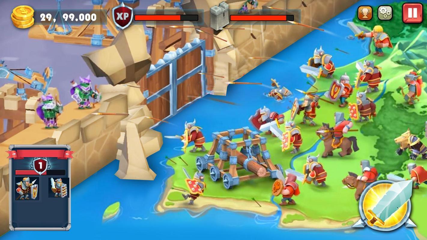 城堡塔防游戏截图