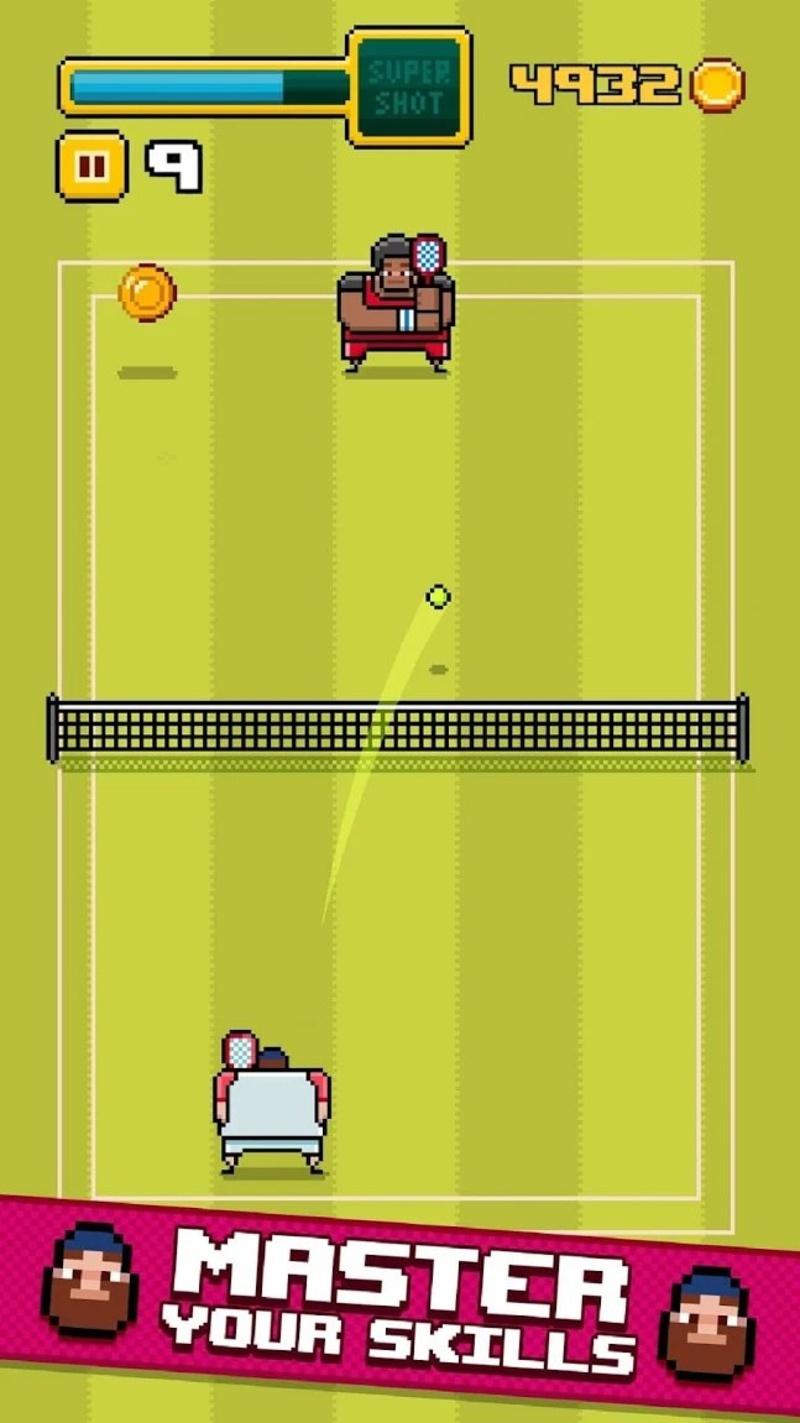 像素网球游戏截图