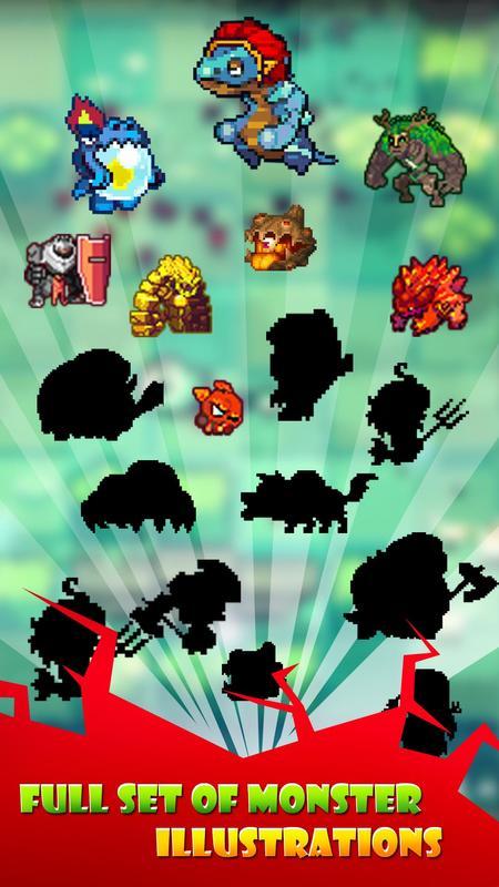 像素怪物进化放置类游戏