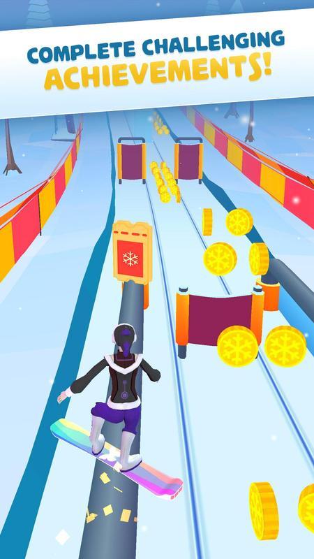 雪地竞速游戏截图