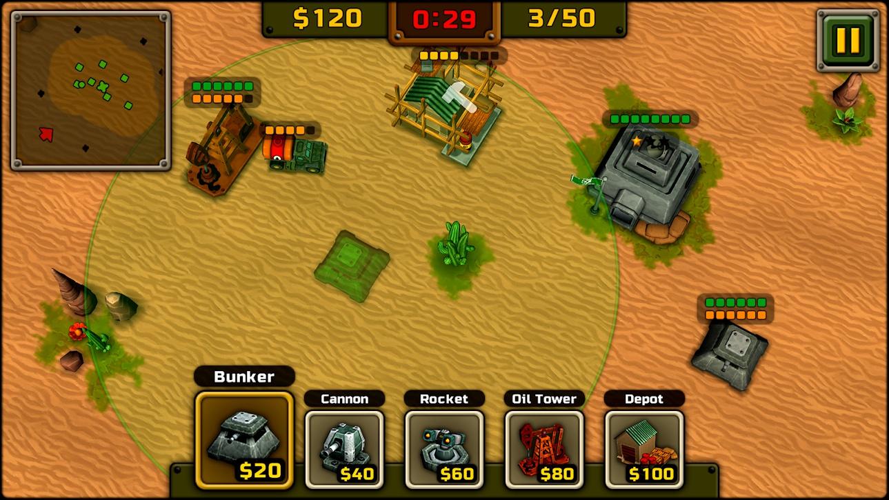 塔防战争游戏截图