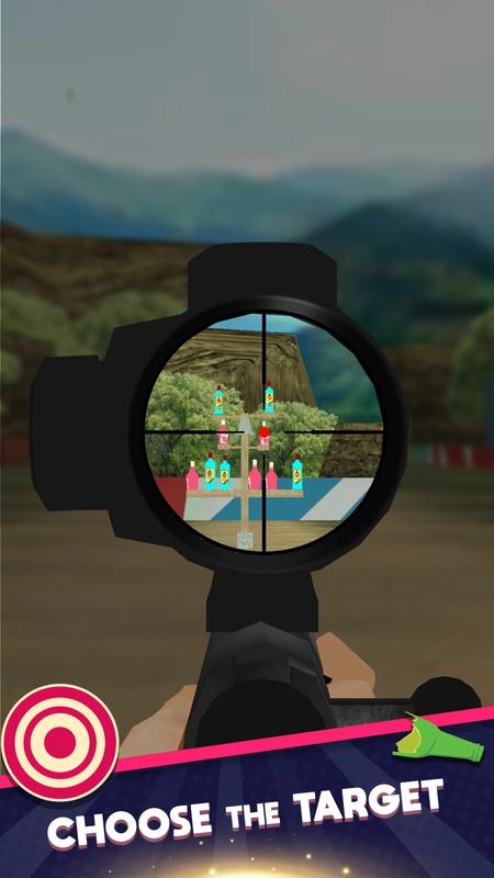 狙击手瓶子射击