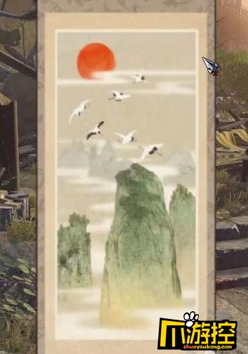 仙鹤风景锁竖屏壁纸