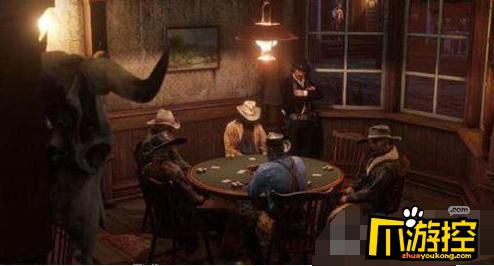 德州扑克是不少玩家都喜欢的一种休闲方式,荒野大镖客2的游戏背景是美
