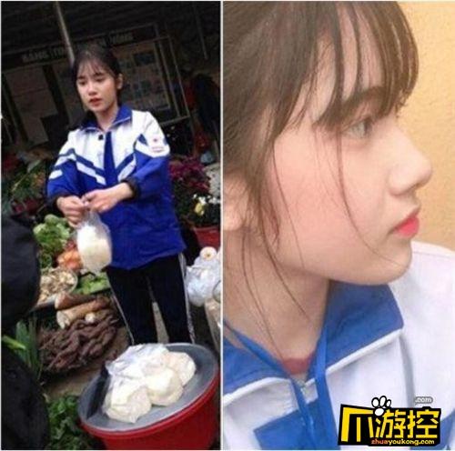 高中女生帮妈卖豆腐成网红 肤白貌美火爆全网