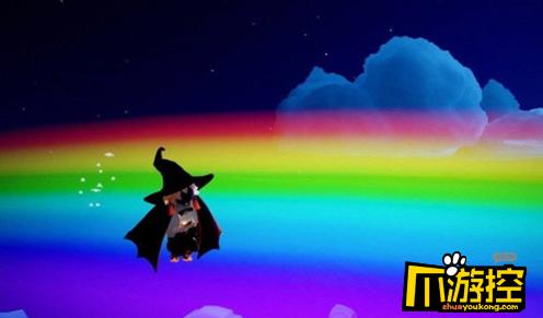 光遇怎么站在彩虹上