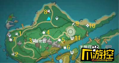 原神稻妻藤兜砦区域宝箱位置一览.png