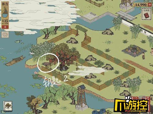 江南百景图杭州探险第一章钥匙在哪,江南百景图杭州探险第一章钥匙位置大全