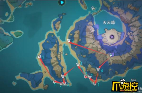 原神珊瑚宫心海突破材料浮游干核最全采集路线一览3.png