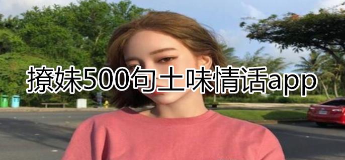 撩妹500句土味情话app