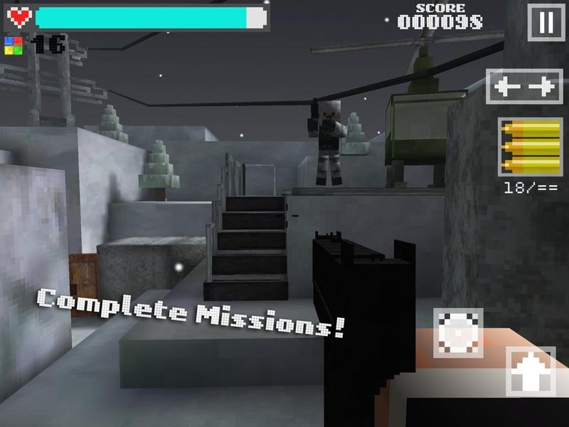 3D方块射击:幽灵行动