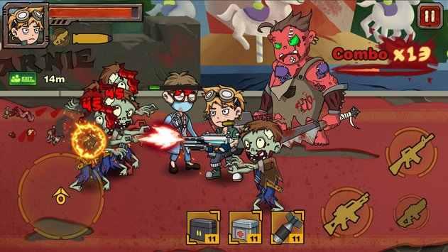 僵尸之战:英雄游戏截图