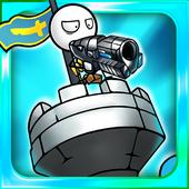 卡通防御机器人