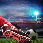 真实世界杯足球闪烁3D