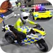 警车驾驶摩托车骑行无限金币