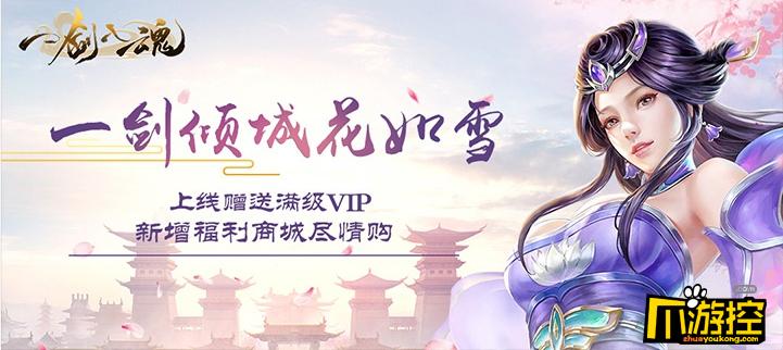《一剑入魂海量版》公益服上线送满V,元宝8888,金币100万