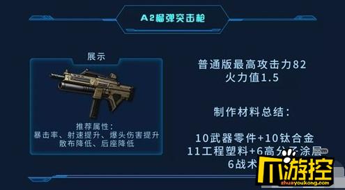 明日之后A2榴彈突擊槍怎么使用,明日之后A2榴彈突擊槍使用方法