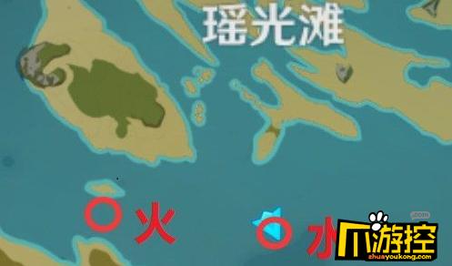 原神瑶光滩水下柱子在哪
