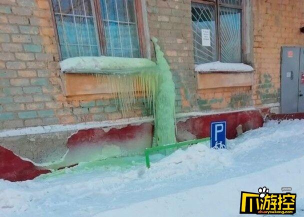 俄罗斯 绿色雪