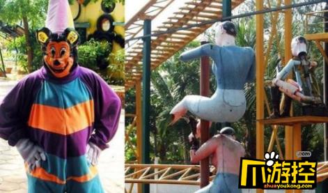 印度山寨版迪士尼堪称鬼屋 猎奇画风让人不忍直视