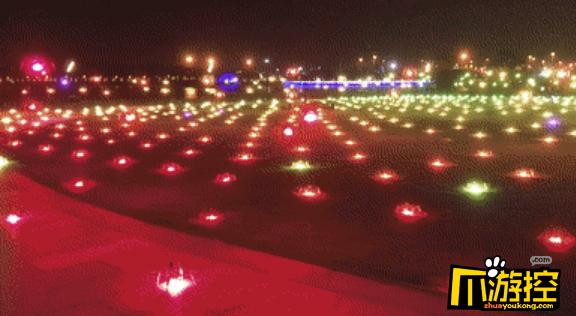 深圳湾600架无人机上演超强应援,拼出我爱香港我爱你中国