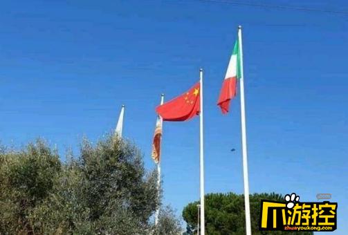意大利挂起中国和俄罗斯国旗,正所谓患难见真情
